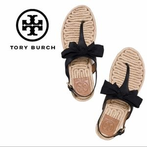 Tory Burch | Penny Flat Espadrille Bow Sandals - 7.5
